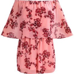 Kombinezony damskie: Missguided Petite BANDEAU LARGE FRILL BLOSSOM  Kombinezon pink