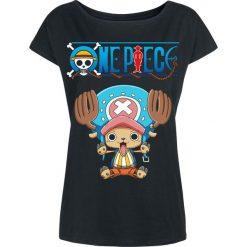Bluzki asymetryczne: One Piece Chopper Koszulka damska czarny
