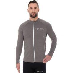 Bejsbolówki męskie: Brubeck Bluza męska active wool szara r. XL (LS13330)