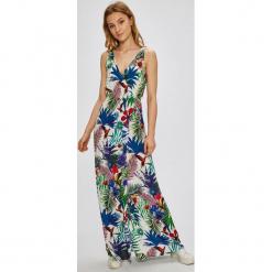 Desigual - Sukienka Jasmine. Niebieskie długie sukienki marki bonprix, z nadrukiem, na ramiączkach. Za 299,90 zł.