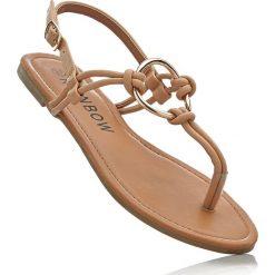 Sandały japonki bonprix jasnobrązowy. Brązowe klapki damskie marki NEWFEEL, z gumy. Za 34,99 zł.