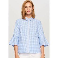 Koszula w kratę - Niebieski. Niebieskie koszule wiązane damskie Reserved. W wyprzedaży za 59,99 zł.