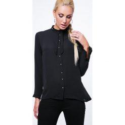 Koszula z cyrkoniami czarna MP26005. Czarne koszule damskie marki Fasardi, m, z dresówki. Za 49,00 zł.