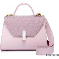 Kuferki damskie: NUCELLE Kuferek z brokatową klapką różowy