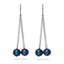 Kolczyki damskie: Srebrne kolczyki z perłami słodkowodnymi