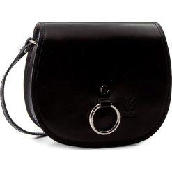 Torebka CREOLE - K10401  Czarny. Czarne listonoszki damskie marki Creole, ze skóry. Za 119,00 zł.