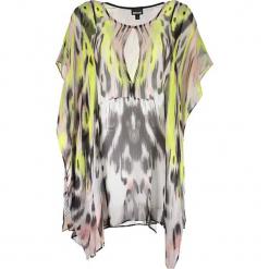 Sukienka ze wzorem. Brązowe sukienki marki Just Cavalli, Calvin Klein, Lee, m, z okrągłym kołnierzem, midi, proste. W wyprzedaży za 999,95 zł.