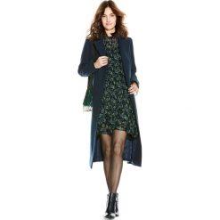 Płaszcze damskie pastelowe: Płaszcz długi, wiązany w pasie