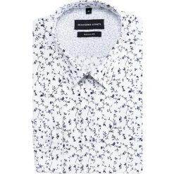 Koszula SIMONE KDWR000218. Białe koszule męskie na spinki Giacomo Conti, m, z bawełny, z klasycznym kołnierzykiem, z długim rękawem. Za 199,00 zł.