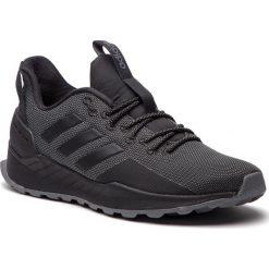 Buty adidas - Questar Trail BB7436 Cblack/Cblack/Grefiv. Czarne buty do biegania męskie Adidas, z materiału. W wyprzedaży za 239,00 zł.