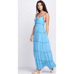 Sukienki: Niebieska Sukienka Passing Time