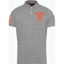 Superdry - Męska koszulka polo, szary. Szare koszulki polo Superdry, m, z aplikacjami, z bawełny. Za 229,95 zł.