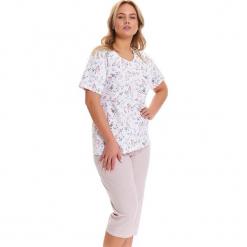 Piżama w kolorze biało-jasnoróżowym - t-shirt, spodnie. Białe piżamy damskie Doctor Nap, l. W wyprzedaży za 74,95 zł.