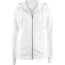 Bluzy damskie: Bluza rozpinana bonprix biel wełny