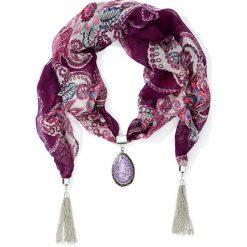 Szal z ozdobnym elementem bonprix lila. Fioletowe szaliki damskie bonprix. Za 24,99 zł.