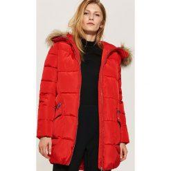 Pikowana kurtka z kapturem - Czerwony. Niebieskie kurtki damskie pikowane marki House, m. Za 229,99 zł.