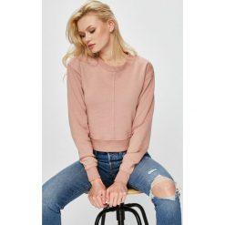 Guess Jeans - Bluza. Szare bluzy damskie Guess Jeans, l, z aplikacjami, z bawełny, bez kaptura. Za 199,90 zł.
