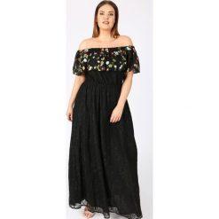 Długie sukienki: Gładka, długa, rozszerzana sukienka bez rękawów