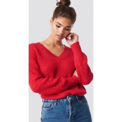 MANGO Sweter Genzov - Red. Czerwone swetry oversize damskie Mango, z dzianiny. Za 121,95 zł.