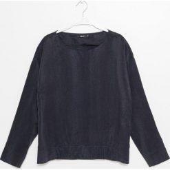Simple - Bluzka. Białe bluzki nietoperze marki bonprix, z nadrukiem, z wełny. W wyprzedaży za 199,90 zł.