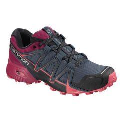 Salomon Damskie Buty Speedcross Vario 2 W, Stormy Weather/Cerise./Dubarry, 40.7. Szare buty do biegania damskie marki Salomon, z gore-texu, na sznurówki, gore-tex. Za 449,00 zł.