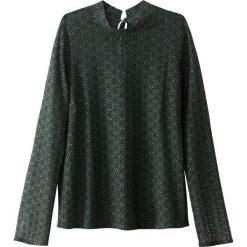 Bluzki asymetryczne: Koronkowa bluzka z wiązaniem na plecach i ze stójką