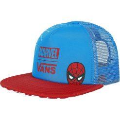 Vans Marvel - Spider-Man Czapka Trucker Cap niebieski/czerwony. Czerwone czapki z daszkiem damskie marki Vans, z motywem z bajki, z tworzywa sztucznego. Za 79,90 zł.