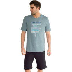 Piżamy męskie: Wzorzysta piżama letnia z krótkim rękawem.