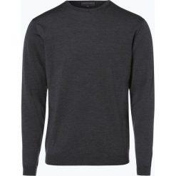 Finshley & Harding - Sweter męski, szary. Czarne swetry klasyczne męskie marki Finshley & Harding, w kratkę. Za 179,95 zł.