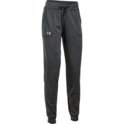 Under Armour Spodnie Dresowe Tech Pant Solid Carbon Heather Metallic Silver M. Brązowe spodnie sportowe damskie marki Under Armour, m, z dresówki, na fitness i siłownię. W wyprzedaży za 139,00 zł.