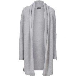 Swetry oversize damskie: Długi sweter bez zapięcia bonprix jasnoszary melanż
