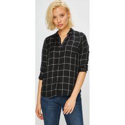 Review - Koszula. Czarne koszule damskie w kratkę Review, l, z tkaniny, casualowe, z klasycznym kołnierzykiem, z długim rękawem. Za 129,90 zł.