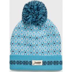 True Spin - Czapka Zaporozhets. Niebieskie czapki zimowe damskie True Spin, na zimę, z dzianiny. W wyprzedaży za 49,90 zł.