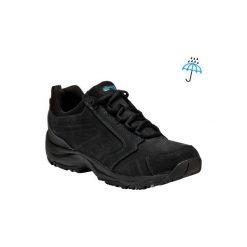 Skórzane buty męskie do szybkiego marszu Nakuru Novadry czarne. Czarne buty fitness męskie NEWFEEL, z gumy. Za 299,99 zł.