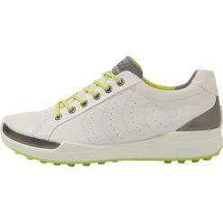 Ecco BIOM HYBRID Obuwie do golfa white/lime punch. Białe buty do tenisa męskie ecco, z materiału. W wyprzedaży za 639,20 zł.