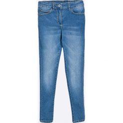 Blukids - Jeansy dziecięce 134-164 cm. Fioletowe jeansy dziewczęce marki OLAIAN, z elastanu, sportowe. W wyprzedaży za 49,90 zł.