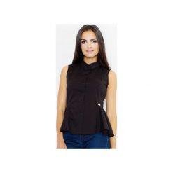 Koszula M357 Czarny. Czarne koszule wiązane damskie FIGL, m, z bawełny, eleganckie, bez rękawów. Za 89,00 zł.