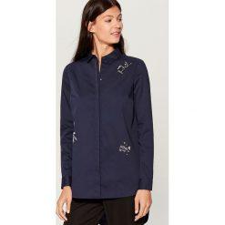 Koszula z wydłużonym tyłem - Niebieski. Niebieskie koszule damskie marki Mohito. Za 119,99 zł.
