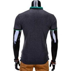T-shirty męskie: T-SHIRT MĘSKI Z NADRUKIEM S765 – GRAFITOWY