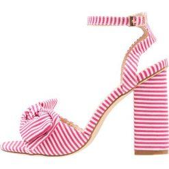 Rzymianki damskie: Glamorous Sandały na obcasie pink