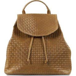 """Plecaki damskie: Skórzany plecak """"Faith"""" w kolorze brązowym – 32 x 33 x 16 cm"""