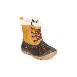 Śniegowce Dziecko Primigi  FLEN-E GORE-TEX. Czarne buty zimowe chłopięce marki ecco, z gore-texu, na sznurówki. Za 244,30 zł.