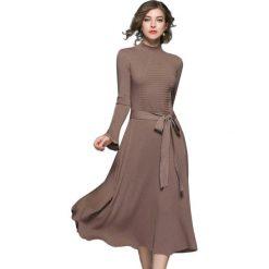 Długie sukienki: Sukienka w kolorze khaki