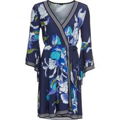 Sukienka kopertowa bonprix ciemnoniebieski z nadrukiem. Brązowe sukienki asymetryczne marki Mohito, l, z kopertowym dekoltem. Za 59,99 zł.