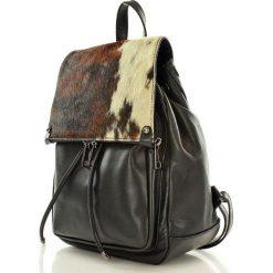 Plecaki damskie: Skórzany plecak damski AMBER czerń