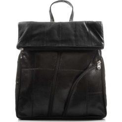 SKÓRZANY PLECAK DAMSKI VINTAGE ABRUZZO. Czarne plecaki damskie marki Abruzzo, ze skóry. Za 149,00 zł.