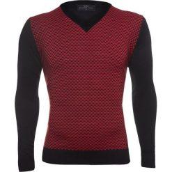 Sweter CESARE 14-99SR. Czarne swetry klasyczne męskie Giacomo Conti, m, w geometryczne wzory, z tkaniny. Za 169,00 zł.