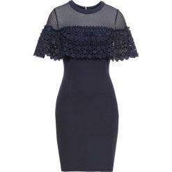 Sukienka koronkowa bonprix niebieski. Niebieskie sukienki koronkowe marki bonprix. Za 169,99 zł.