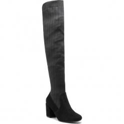 Muszkieterki KAZAR - Kelyn 34865-14-00 Black. Czarne buty zimowe damskie Kazar, z materiału, przed kolano, na wysokim obcasie. Za 849,00 zł.