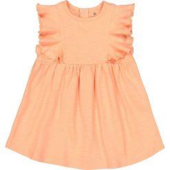 Rozszerzana sukienka z falbankami 1 miesiąc - 3 lata Oeko Tex. Różowe sukienki dziewczęce marki La Redoute Collections, z bawełny, z krótkim rękawem, krótkie, mini. Za 44,06 zł.